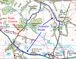 Road Closure - Wood Lane - 4th August